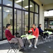 2人オープンカフェ
