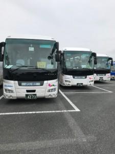 観光バス3台