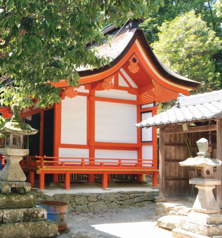 三田の魅力住吉神社本殿トリミング