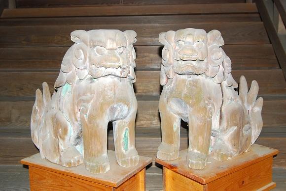 木器天満神社狛犬5圧縮