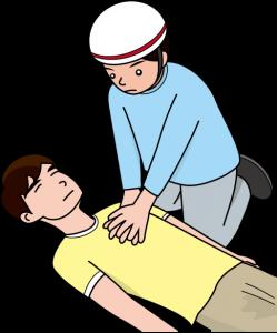 防災・胸骨圧迫