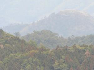 22-山頂から黒井城跡遠望